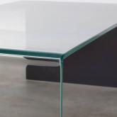 Rechteckiger Couchtisch aus gehärtetem Glas (120x60 cm) Lidon, Miniaturansicht 6