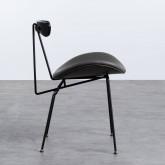Esszimmerstuhl aus Kunstleder und Holz Tara, Miniaturansicht 3