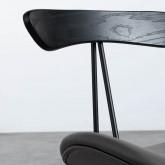 Esszimmerstuhl aus Kunstleder und Holz Tara, Miniaturansicht 5
