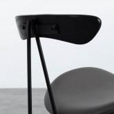 Esszimmerstuhl aus Kunstleder und Holz Tara, Miniaturansicht 6