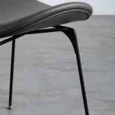 Esszimmerstuhl aus Kunstleder und Holz Tara, Miniaturansicht 7