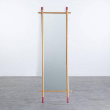 Stehspiegel aus Bambus (170 cm) Piy