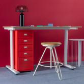 Schreibtisch aus Melamin und Metall Arwen, Miniaturansicht 2