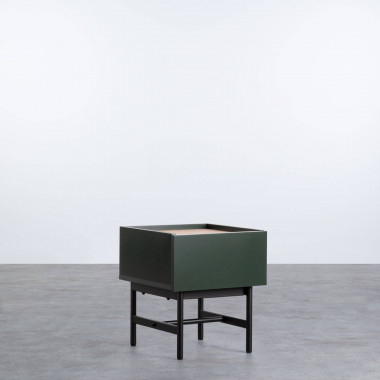 Nachttisch aus MDF und Metall Tuika