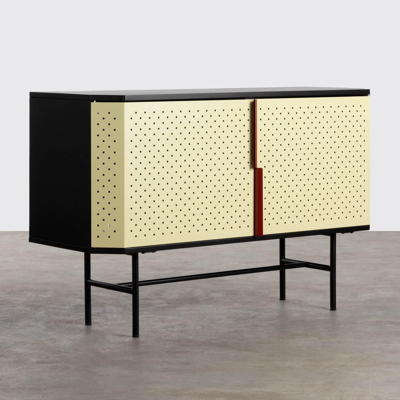 Niedriges Sideboard aus laminierten Stahl mit 2 Türen Kepa, Galeriebild 1