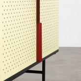 Niedriges Sideboard aus laminierten Stahl mit 2 Türen Kepa, Miniaturansicht 8