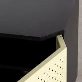 Niedriges Sideboard aus laminierten Stahl mit 2 Türen Kepa, Miniaturansicht 9