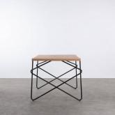 Esstisch aus MDF und Metall (160x84,7 cm) Rombio, Miniaturansicht 4