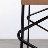 Esstisch aus MDF und Metall (160x84,7 cm) Rombio, Miniaturansicht 7