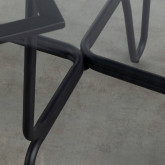 Esstisch aus gehärtetem Glas und Metall ( Ø110 cm ) Aldab, Miniaturansicht 3