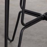 Esstisch aus gehärtetem Glas und Metall ( Ø110 cm ) Aldab, Miniaturansicht 6