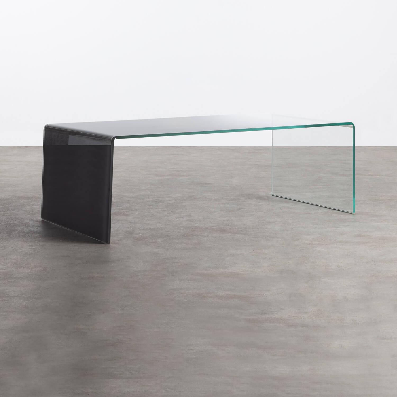 Rechteckiger Couchtisch aus gehärtetem Glas (120x60 cm) Lidon, Galeriebild 1
