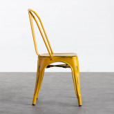 Esszimmerstuhl aus Stahl Vechio Industrial Vintage, Miniaturansicht 2