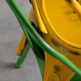Esszimmerstuhl aus Stahl Vechio Industrial Vintage, Miniaturansicht 3