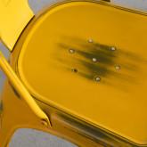 Esszimmerstuhl aus Stahl Vechio Industrial Vintage, Miniaturansicht 4