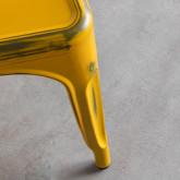 Esszimmerstuhl aus Stahl Vechio Industrial Vintage, Miniaturansicht 5