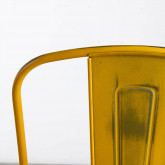 Esszimmerstuhl aus Stahl Vechio Industrial Vintage, Miniaturansicht 6