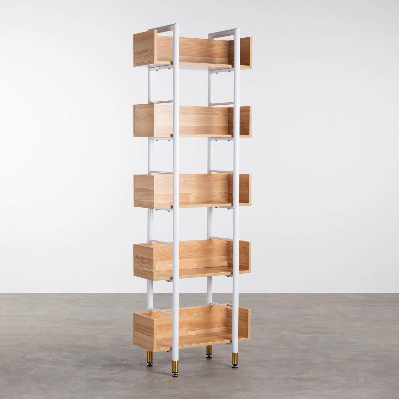 Regal aus MDF und Stahl (180x60 cm) Deseq, Galeriebild 1