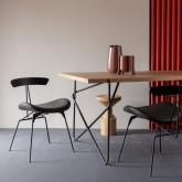 Esszimmerstuhl aus Kunstleder und Holz Tara, Miniaturansicht 2