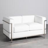 Sofa 2-Sitzer- in Kunstleder Mera, Miniaturansicht 1