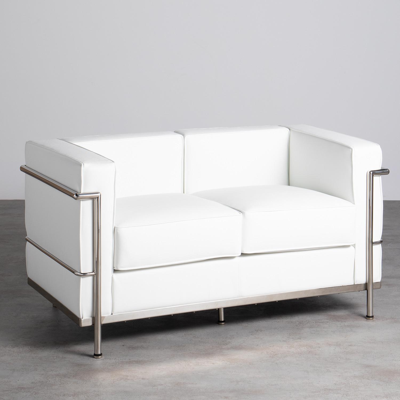 Sofa 2-Sitzer- in Kunstleder Mera, Galeriebild 1