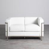 Sofa 2-Sitzer- in Kunstleder Mera, Miniaturansicht 3