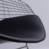 Esszimerstuhl aus Stahl Amber Top, Miniaturansicht 4