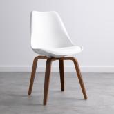 Esszimmerstuhl aus Polypropylen und Holz Futur Wood, Miniaturansicht 1
