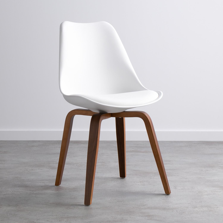 Esszimmerstuhl aus Polypropylen und Holz Futur Wood, Galeriebild 1