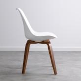 Esszimmerstuhl aus Polypropylen und Holz Futur Wood, Miniaturansicht 3