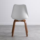 Esszimmerstuhl aus Polypropylen und Holz Futur Wood, Miniaturansicht 4