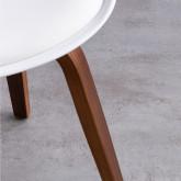 Esszimmerstuhl aus Polypropylen und Holz Futur Wood, Miniaturansicht 7