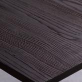 Esstisch aus Ulme und Stahl (80x80 cm) Industrial, Miniaturansicht 3