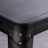 Esszimmertisch Quadratisch aus galvanisiertem Stahl (66x66 cm) Jevi, Miniaturansicht 3