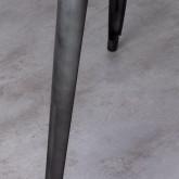 Esszimmertisch Quadratisch aus galvanisiertem Stahl (66x66 cm) Jevi, Miniaturansicht 4