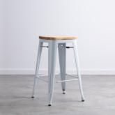 Hoher Hocker aus Stahl industrial Wood (66 cm), Miniaturansicht 1