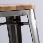 Hoher Hocker aus galvanisiertem Stahl Industrial Wood (76 cm), Miniaturansicht 3