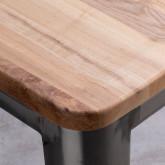 Hoher Hocker aus galvanisiertem Stahl Industrial Wood (76 cm), Miniaturansicht 4
