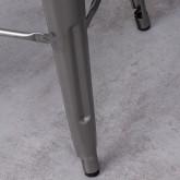 Hoher Hocker aus galvanisiertem Stahl Industrial Wood (76 cm), Miniaturansicht 5