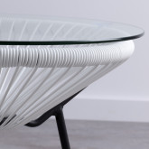Beistelltisch Rund aus PVC und Glas (Ø45 cm) Riviera, Miniaturansicht 2