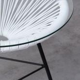 Beistelltisch Rund aus PVC und Glas (Ø45 cm) Riviera, Miniaturansicht 4