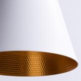 Lampe aus Stahl und Holz Gold, Miniaturansicht 4