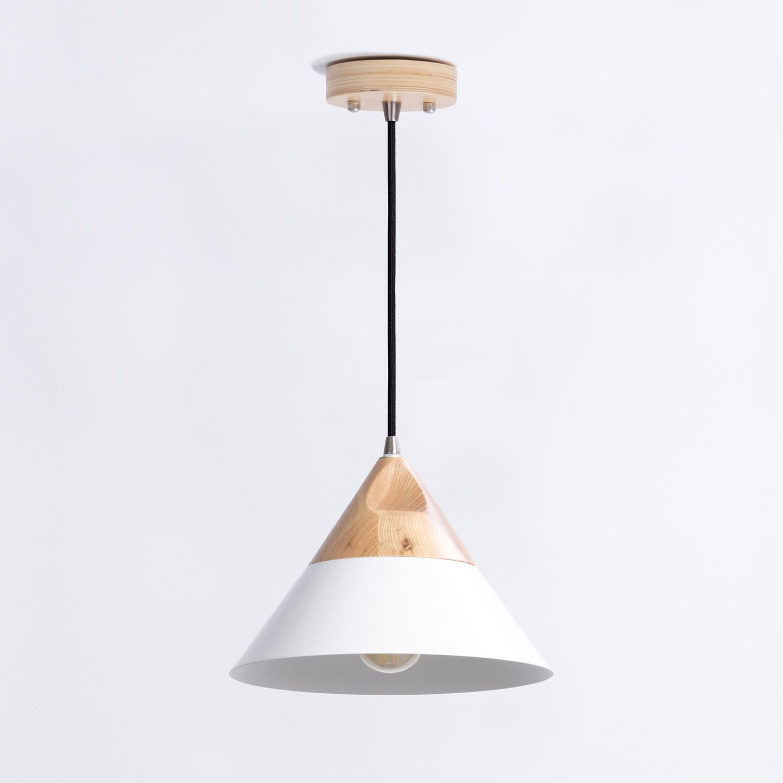 Lampe aus Holz und Metall Luce, Galeriebild 1