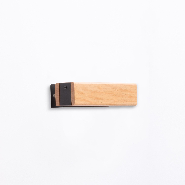 Wandleuchte aus Holz Rectangle, Galeriebild 1