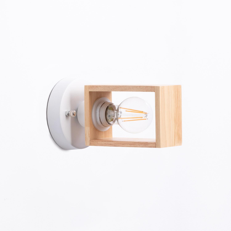Wandleuchte aus Holz Apliq, Galeriebild 1