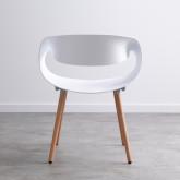 Esszimmerstuhl aus Polypropylen und Holz Tera, Miniaturansicht 3