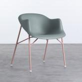 Esszimmerstuhl aus Polypropylen und Metall Ovo, Miniaturansicht 1