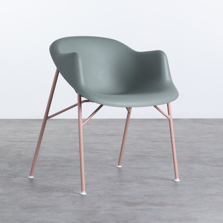 Esszimmerstuhl aus Polypropylen und Metall Ovo, Galeriebild 1