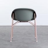 Esszimmerstuhl aus Polypropylen und Metall Ovo, Miniaturansicht 3