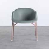 Esszimmerstuhl aus Polypropylen und Metall Ovo, Miniaturansicht 4
